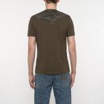 Мужская футболка C.P. Company Goggle Hood Back Print Dark Olive фото- 5