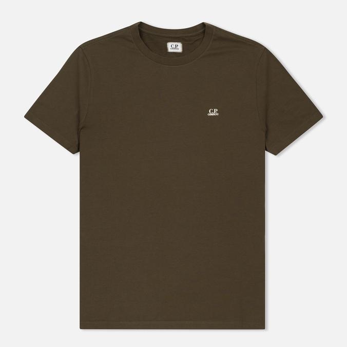 Мужская футболка C.P. Company Goggle Hood Back Print Dark Olive