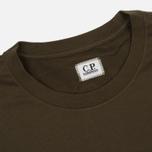 Мужская футболка C.P. Company Goggle Hood Back Print Dark Olive фото- 1