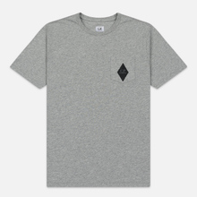 Мужская футболка C.P. Company Heritage Patch Grey Melange фото- 0