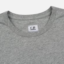 Мужская футболка C.P. Company Heritage Patch Grey Melange фото- 1