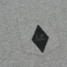 Мужская футболка C.P. Company Heritage Patch Grey Melange фото- 2