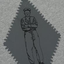 Мужская футболка C.P. Company Heritage Patch Grey Melange фото- 4