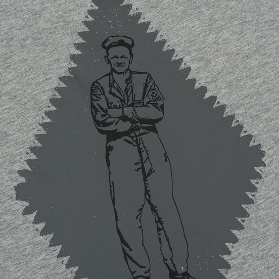 Мужская футболка C.P. Company Heritage Patch Grey Melange