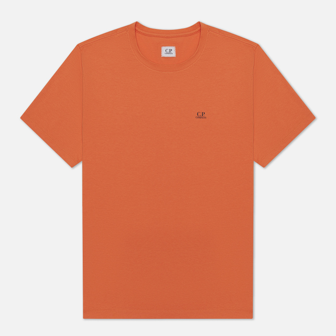 Мужская футболка C.P. Company Jersey 30/1 Chest Logo Spicy Orange