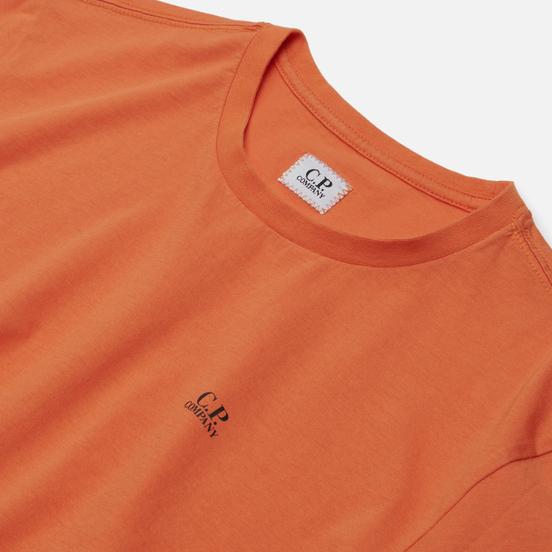 Мужская футболка C.P. Company Jersey 30/1 Chest Logo Spicy Orange
