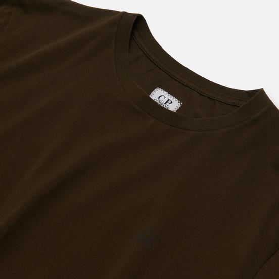 Мужская футболка C.P. Company Jersey 30/1 Goggle Hood Print Forest Night