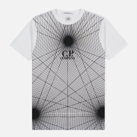 Мужская футболка C.P. Company Laser Print White
