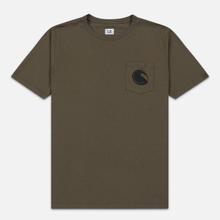 Мужская футболка C.P. Company Lens Pocket Print Regular Fit Dusty Olive фото- 0