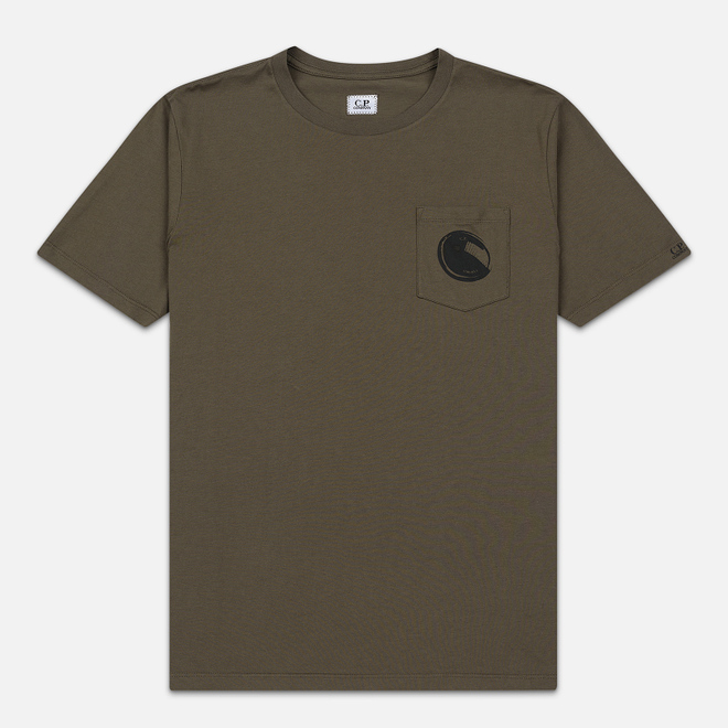 Мужская футболка C.P. Company Lens Pocket Print Regular Fit Dusty Olive