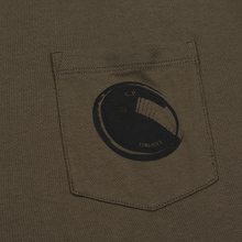 Мужская футболка C.P. Company Lens Pocket Print Regular Fit Dusty Olive фото- 2