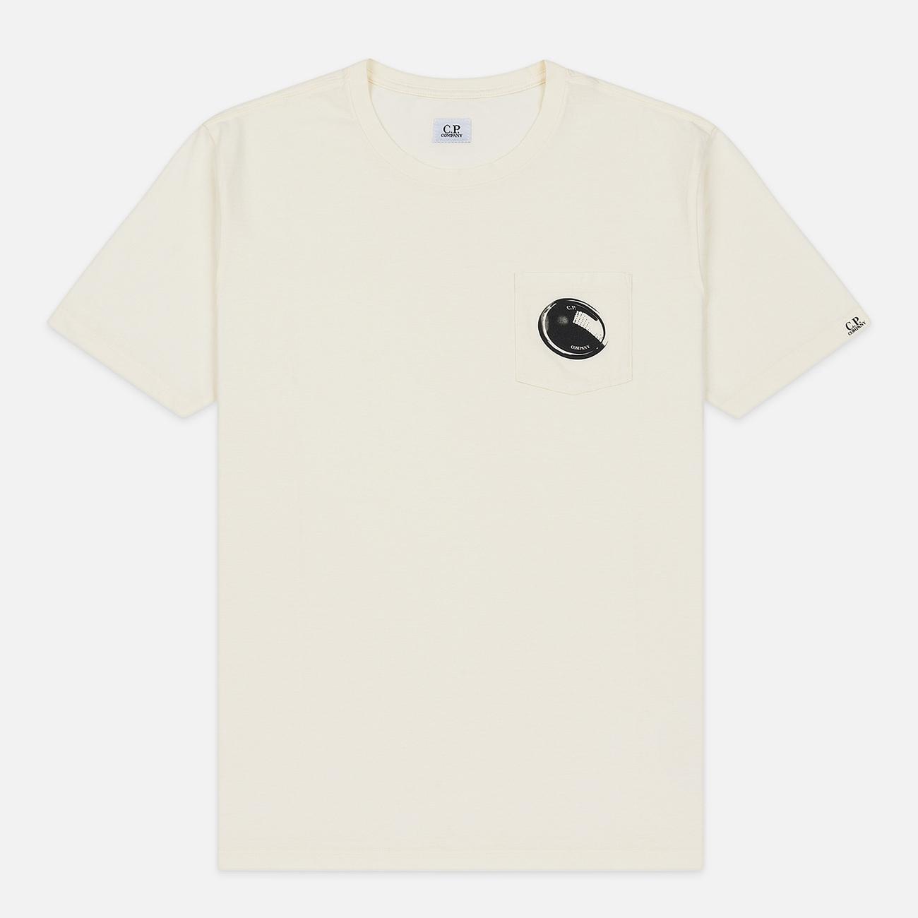 Мужская футболка C.P. Company Lens Pocket Print Regular Fit Gauze White