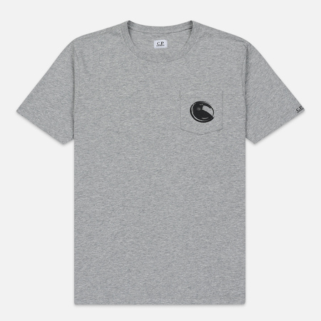 Мужская футболка C.P. Company Lens Pocket Print Regular Fit Grey Melange