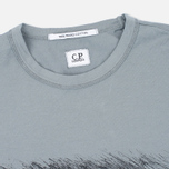 C.P. Company M/C Scratch Logo Men's T-shirt Grey photo- 3