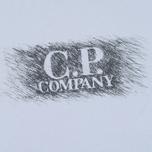 Мужская футболка C.P. Company M/C Scratch Logo Violet Blue фото- 2