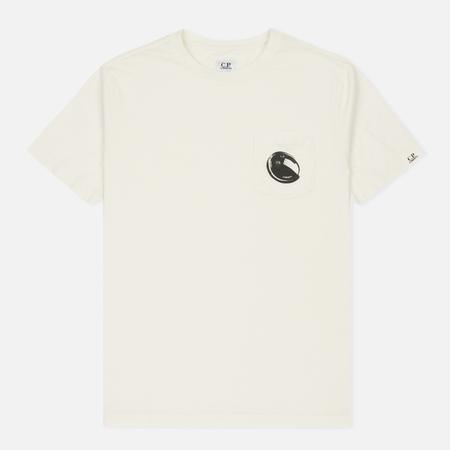 Мужская футболка C.P. Company Printed Lens Pocket Tapioca