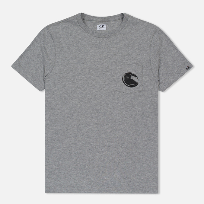 Мужская футболка C.P. Company Printed Pocket SS Grey Melange