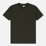 Мужская футболка C.P. Company Printed Pocket SS Moss фото- 0
