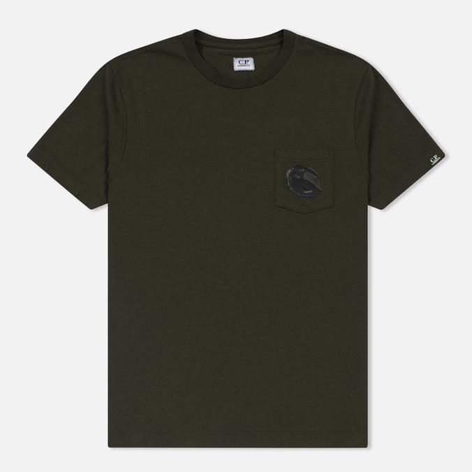 Мужская футболка C.P. Company Printed Pocket SS Moss