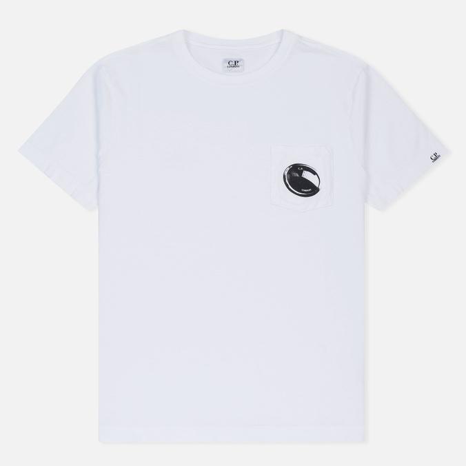 Мужская футболка C.P. Company Printed Pocket SS Optic White