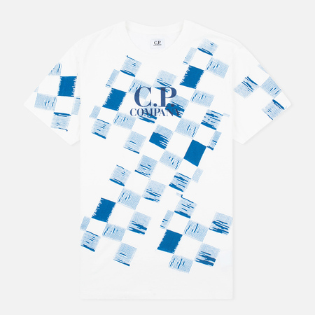 C.P. Company Stampa All Over Men's T-shirt White