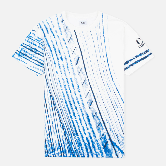 Мужская футболка C.P. Company Stampa All Over White/Blue