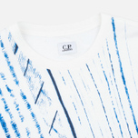 Мужская футболка C.P. Company Stampa All Over White/Blue фото- 1