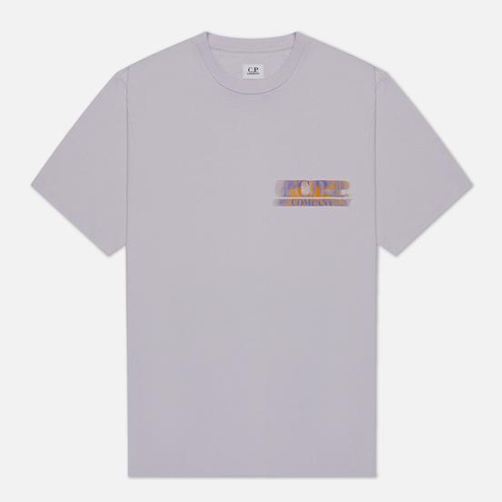 Мужская футболка C.P. Company Treated Blurred Logo Thistle