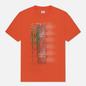 Мужская футболка C.P. Company Treated Blurred More Logo Spicy Orange фото - 0