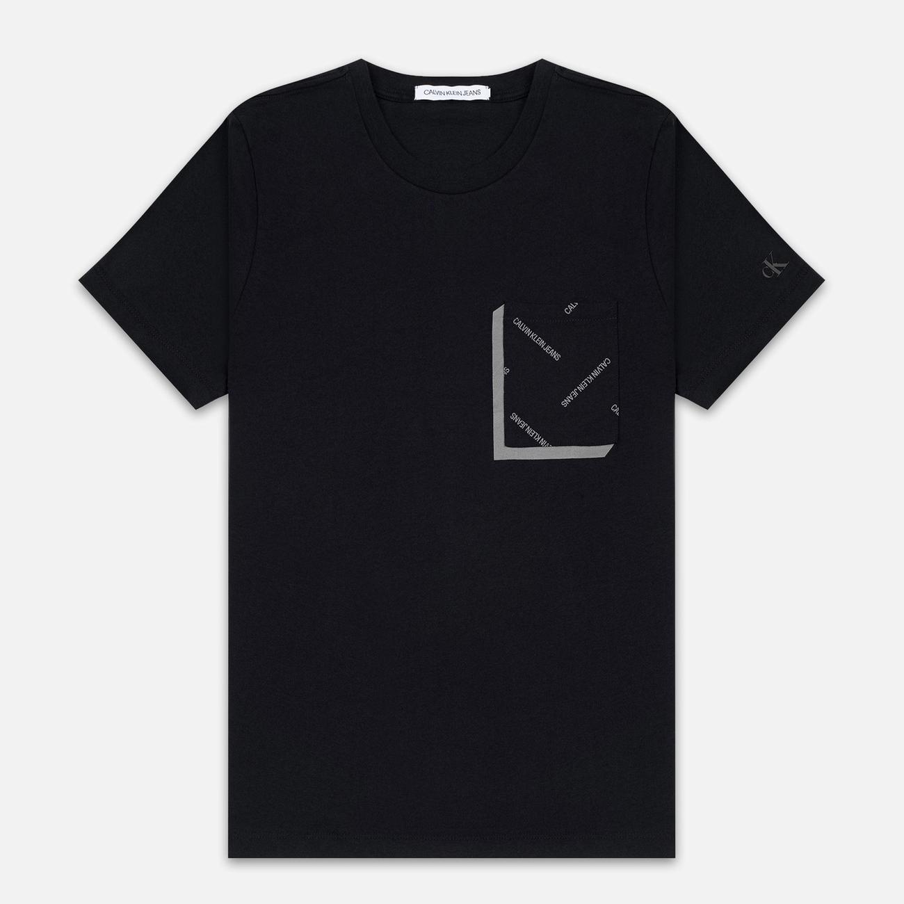 Мужская футболка Calvin Klein Jeans All Over Print Pocket 3D Black/Raven