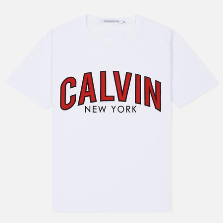 Мужская футболка Calvin Klein Jeans Curved Varsity Bright White