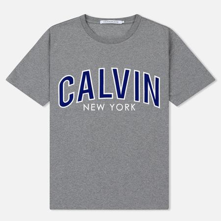 Мужская футболка Calvin Klein Jeans Curved Varsity Grey Heather