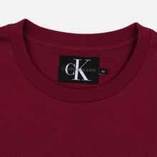 Мужская футболка Calvin Klein Jeans Embroidered Logo Beet Red фото- 1