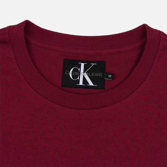 Мужская футболка Calvin Klein Jeans Embroidered Logo Beet Red