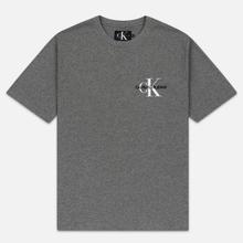 Мужская футболка Calvin Klein Jeans Embroidered Logo Grey Heather фото- 0