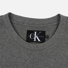 Мужская футболка Calvin Klein Jeans Embroidered Logo Grey Heather фото- 1