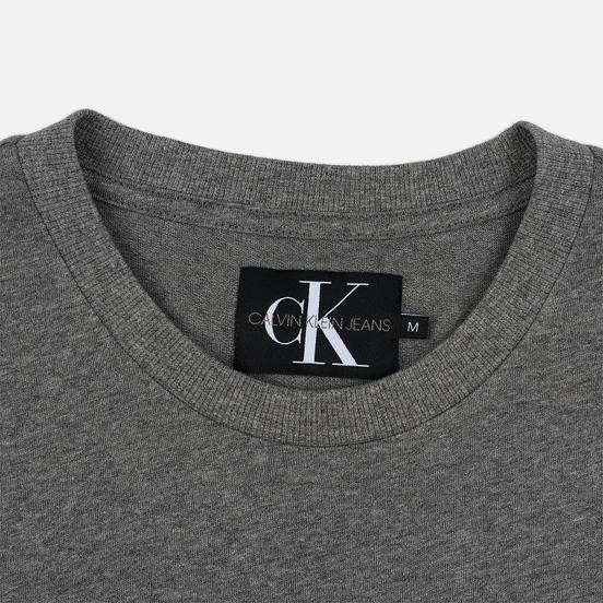 Мужская футболка Calvin Klein Jeans Embroidered Logo Grey Heather