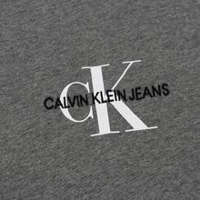 Мужская футболка Calvin Klein Jeans Embroidered Logo Grey Heather фото- 2