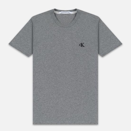Мужская футболка Calvin Klein Jeans Essential Monogram Logo Mid Grey Heather