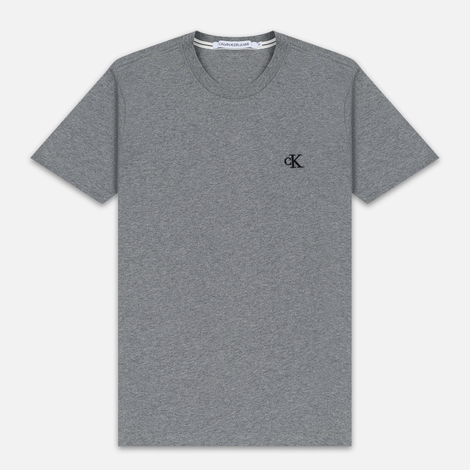 Мужская футболка Calvin Klein Jeans Essential Monogram Logo Mid Grey Heather