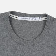 Мужская футболка Calvin Klein Jeans Essential Monogram Logo Mid Grey Heather фото- 1