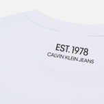 Мужская футболка Calvin Klein Jeans Est. 1978 Icon Chest Embroidery Bright White/Yellow фото- 3