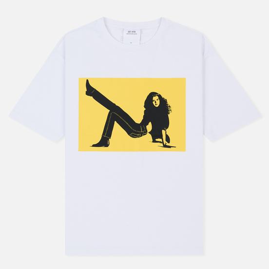Мужская футболка Calvin Klein Jeans Est. 1978 Icon Chest Logo Print Bright White/Yellow