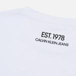 Мужская футболка Calvin Klein Jeans Est. 1978 Modernist Logo Bright White/Eagle фото- 3