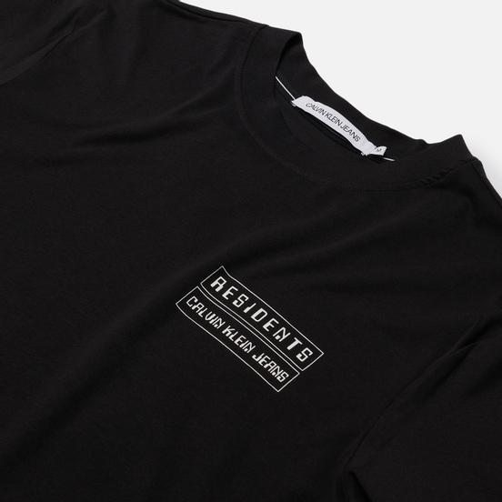 Мужская футболка Calvin Klein Jeans Globe Flyer Print Relaxed Black
