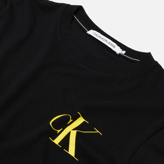 Мужская футболка Calvin Klein Jeans Instit Back Pop Logo Black