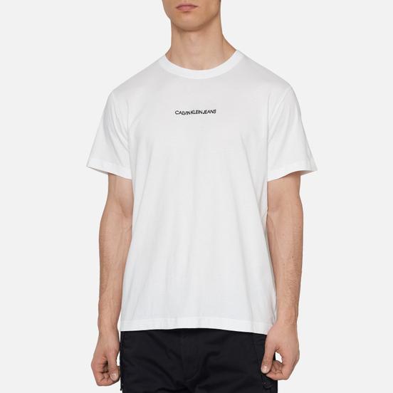 Мужская футболка Calvin Klein Jeans Instit Chest Logo Bright White