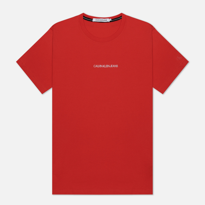 Мужская футболка Calvin Klein Jeans Instit Chest Logo Rouge