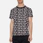 Мужская футболка Calvin Klein Jeans Logo All Over Print Black Exploded Hashtag фото - 2