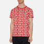 Мужская футболка Calvin Klein Jeans Logo All Over Print Red Exploded Hashtag фото - 2
